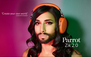 from this photo you'll never guess who s the new face of parrot zik 2 0 headphones image 2
