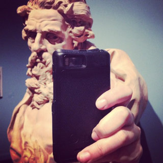 Art portraits turned into smartphone selfies, the photo gallery