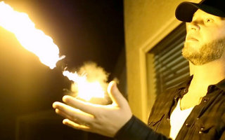 Shoot fireballs 10-feet in the air from your wrist with Pyro