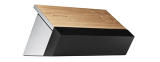 bang olufsen beosound moment wireless music system is fronted by touch sensitive wood interface image 2