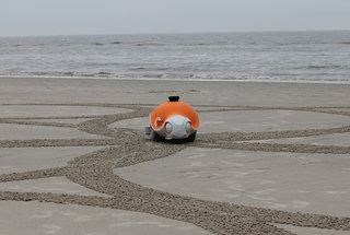 What would you have an intelligent robot do? Well, if 'draw in the sand' was your answer...