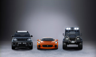 James Bond Spectre cars revealed: Jaguar C-X75, Land Rover Defender Big Foot and more