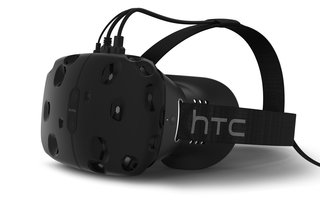 This is HTC Vive, the Steam VR headset built by HTC and Valve