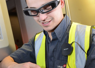 virgin atlantic to make your flights run smoothly using sony smarteyeglass and smartwear image 2
