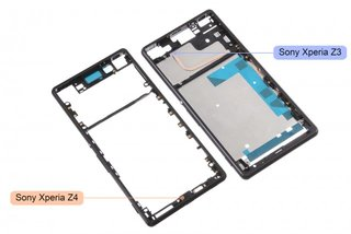 Sony Xperia Z4 chassis leak reveals thinner, more streamline design