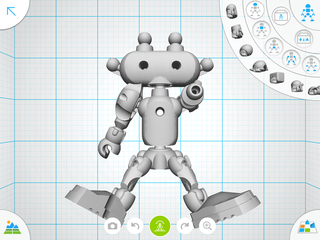 Autodesk Tinkerplay lets you design 3D items like this robot toy from scratch