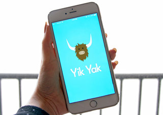 What is Yik Yak? It's like a bathroom stall wall, and teens are