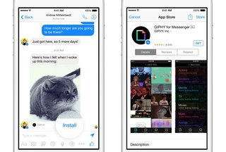 what s new with facebook you can now install apps like giphy in messenger and more image 4