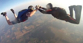 See what it's like to plunge 10,000ft to the ground: Incredible GoPro footage is stuff of nightmares