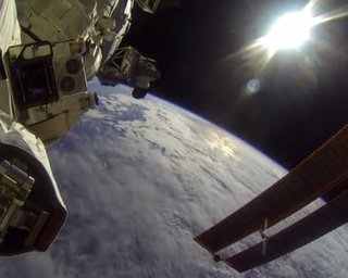 NASA astronaut uses a GoPro camera to reveal what work life is like in space
