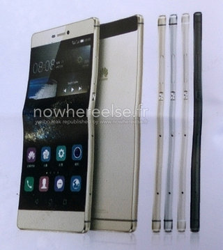 Huawei Ascend P8 and P8 Lite appear on leaked billboard showing four colour choices