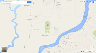 Android found taking a leak on Apple logo in Google Maps