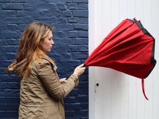 This revolutionary inside-out umbrella promises a drip-free experience