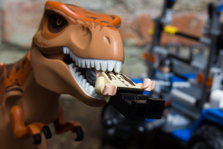 Live your own Jurassic World adventure, in Lego