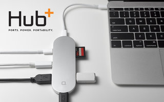 Hub+ is the gorgeous USB-C adapter for MacBook that adds ports, doubles as charger
