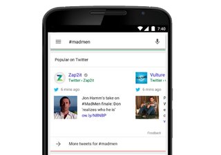 Google app for iOS and Android now serves up tweets in search results