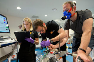 we train with the brownlee brothers at the human performance lab using the gadgets of the future image 33