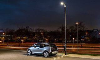 BMW shows off LED streetlights that double as electric car chargers
