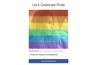 Want to celebrate pride? Facebook launches rainbow photo filter