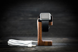 Save 48 per cent on stylish charging with this wood Apple Watch dock