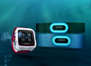 Garmin made two heart-rate monitors just for underwater use, called HRM-Swim and HRM-Tri