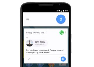 you can now use ok google to whatsapp message your friends by voice image 2
