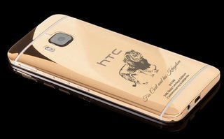 goldgenie s 24ct gold htc one m9 now comes with a cecil the lion engraving for charity image 2