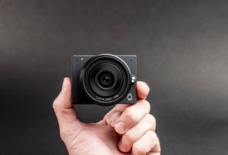 E1 is a 4K camera with interchangeable lenses - but it's like the size of a GoPro