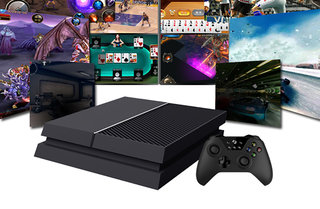 Is this a new PS4 or Xbox One? Actually it's neither, it's an Ouye Tank Android console