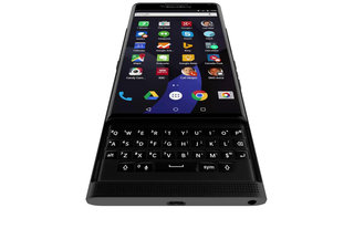This is the BlackBerry Venice slider phone, coming in November and with Google Play Store