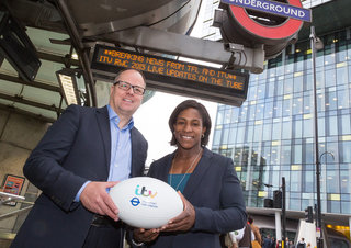 Rugby World Cup news and scores to be scrolled on London Underground time boards