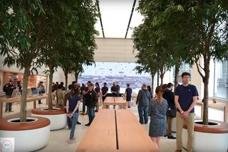 This is the first Apple Store designed by Jony Ive