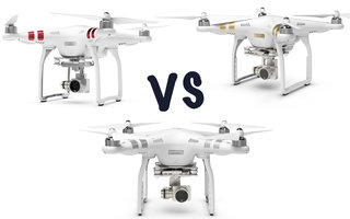 DJI Phantom 3 Standard vs Advanced vs Professional : What's the difference?