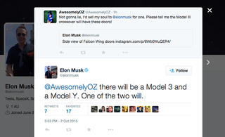 tesla s elon musk drums up publicity for new model y in now deleted tweet image 2