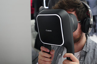Using Canon's VR headset: Hefty handheld solution wins on resolution, not practicality