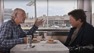 Watch Michael J Fox and Christopher Lloyd joke about the tech of Back to the Future II