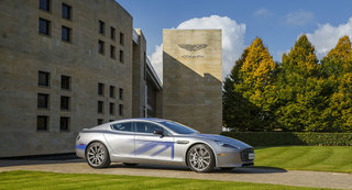 This is the all electric Aston Martin RapidE, 1000bhp expected
