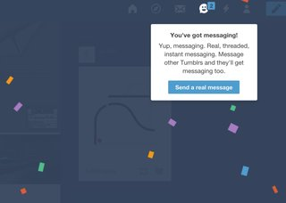 tumblr adds instant messaging here s how the threaded conversations work image 2