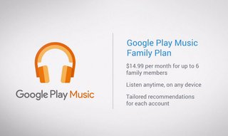 What is Google Play Music family plan and how does it work?
