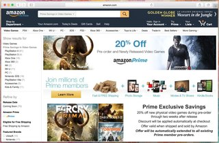 amazon prime members get a new perk 20 per cent off all video game releases pocket lint. Black Bedroom Furniture Sets. Home Design Ideas
