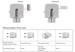 Apple recalls power adapters from as far back as 2003, free replacements for all