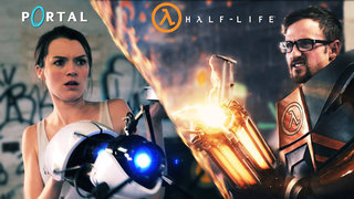 Portal vs Half-Life real world video: Prepare to be gravity gunned away