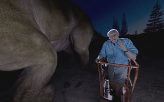 You can go on a VR journey with Sir David Attenborough and a giant dinosaur here