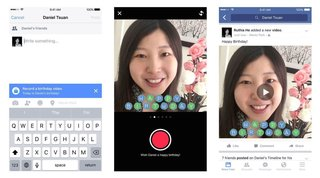 facebook birthday cam lets you say happy birthday to friends via video image 2