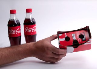 Coca-Cola turned Coke packs into Google Cardboard-like VR viewers