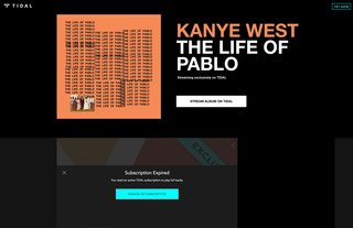 Tidal extended its free trial by 30 days all because Kanye updated his album