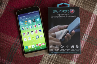 Shark Proof liquid screen protector works for any screen, even curved phones