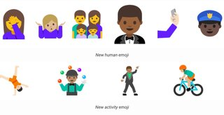 these are the new human looking emoji in android n s latest big update image 2