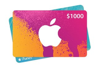 Win a $1000 iTunes gift card for music, apps, games and more