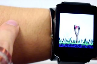 Watch this smartwatch turn an arm into a touchscreen control